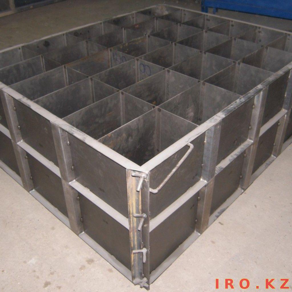 Форма для заливки бетона своими руками видео
